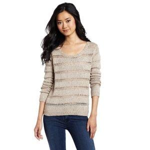 Splendid Versailles Open-Knit Sequin Sweater